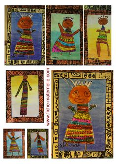 Arts plastiques à la maternelle Kindergarten Art, Preschool Art, Africa Craft, African Art Projects, African Quilts, Afrique Art, Art Journal Techniques, African Masks, Art Plastique