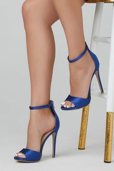 0497daee83af Balty Royal Blue Single Sole Open Toe High Heel