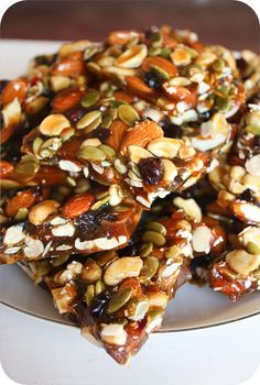 This brittle turned out wonderfully and makes for a good candy that you don't have to feel guilty about eating, since it has a lot of vitamins aside from the sugar and honey.