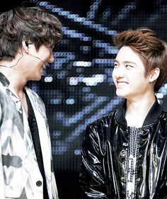 Kai And D.O Smiling To Each Other