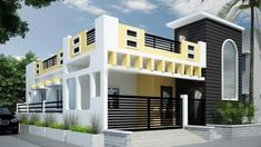 house front elevation designs for single floor Exterior Wall Design, Facade Design, Gate Design, Front Elevation Designs, House Elevation, House Front Design, Modern House Design, Small House Plans, House Floor Plans