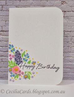 Cecilia's Cards - @Wplus9 Design Studio Design Studio Design Studio Fresh Cut Florals @HeRo Arts sentiment