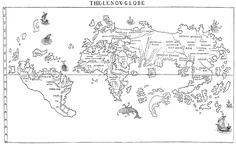 """Not a single old paper map presents those exact words—""""Here be dragons""""— in the margins or otherwise. Nor does any paper map include """"Hic sunt dracones,"""" the words' Latin equivalent.   But a globe does.  That's right: One globe—just one—contains the words """"Hic sunt dracones"""". Called the Hunt-Lenox Globe, it was built in 1510, one of the first European globes ever made. It's 5"""" and made of copper. The Hunt-Lenox Globe contains the famous warning on the southeast coast of Asia."""