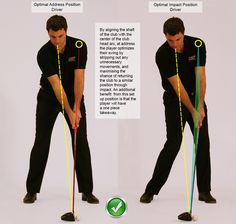 Golf Tips Optimal Address and Optimal Impact Position Driver - Golf Driver Swing, Golf Drivers, Golf Stance, Golf Putting Tips, Golf Photography, Golf Instruction, Golf Tips For Beginners, Golf Training, Golf Quotes