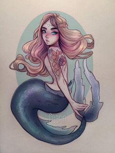 Mermaid  + Video by Cyarin.deviantart.com on @DeviantArt