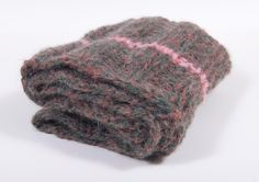 Knitted scarf with pink line and pockets by artdcbydc on Etsy