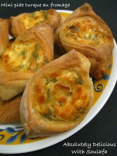 Mini pides turques au fromage