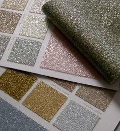 Probably shouldn't even know about this!  Glitter bead wallpaper.