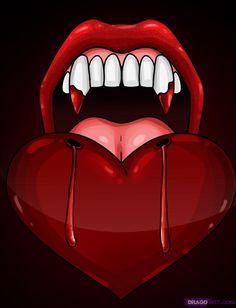 Dracula Cartoon | how to draw vampire teeth