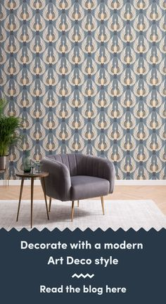 6 Art Deco Wallpapers To Create A Luxurious Interior Art Deco Wallpaper, Luxury Wallpaper, Modern Wallpaper, Living Room Themes, Most Beautiful Wallpaper, Modern Art Deco, Art Deco Design, Luxury Interior, Chrysler Building