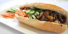 Vietnamese Grilled Pork Sandwich at Pho 24 Restaurant San Jose.