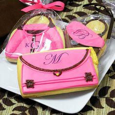 designer purse cookies   Handbag Cookie Favors