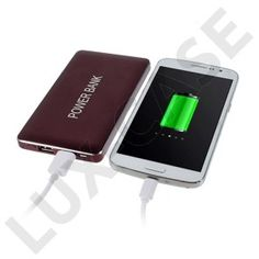 Power Bank: Dobbelt Udgang 8000mAh 2.1A (Vin Rød) til Smartphones and Tablets