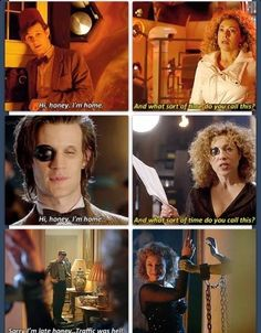 River and eleven ♥♥♥ eleventh doctor, david tennant, geek stuff, relationship Doctor Who Funny, Doctor Who Quotes, Space Man, Sherlock, Serie Doctor, Bff, Hello Sweetie, Don't Blink, Eleventh Doctor