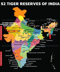 Geography Map, Geography Lessons, General Knowledge Book, Gernal Knowledge, Project Tiger, Tiger Conservation, Ias Study Material, History Of India