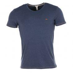 Tee-shirt Diesel col rond bleu jean