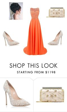 """""""HIGH SCHOOL PROM"""" by cottoncandy1223 ❤ liked on Polyvore featuring Casadei and Oscar de la Renta"""