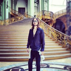 Jared Leto at Grand Palais in Paris (July . Most Beautiful Man, Gorgeous Men, Thirty Seconds, 30 Seconds, 30 Sec To Mars, Jared Leto Hot, Mars Photos, Life On Mars, Shannon Leto