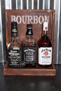 BOURBON Back Bar Liquor Shelf Display Handmade Bar Rustic Man Cave Cedar  Wood
