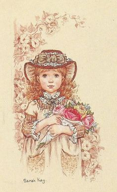 Sarah Kay Mary May, String Art Patterns, Ann Doll, Pintura Country, Holly Hobbie, Cute Illustration, Vintage Cards, Pattern Art, Pretty Pictures