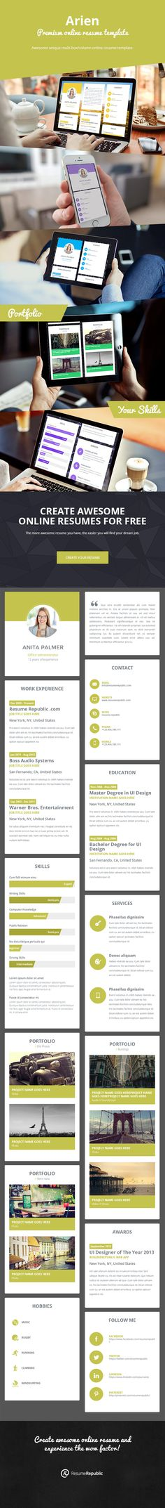 9 best PREMIUM Resume Templates images on Pinterest Career