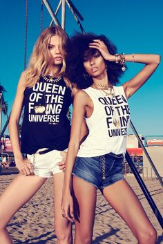 Magdalena Frackowiak + Anais Mali Hit Venice Beach for Juicy Couture, by photographer Andreas Sjodin