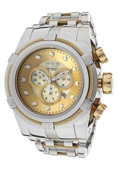 043b35745ba Invicta Men s Bolt Reserve Chrono Champagne MOP Dial Stainless Steel -  Watch 12746