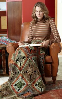 Midwest Meadow Throw - Free Crochet Pattern With Website Registration - (lionbrand)