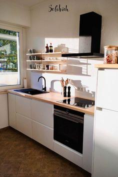 Cute Diy Room Decor, Small Room Decor, Baby Room Decor, Kitchen Interior, Kitchen Design, Kitchen Decor, Black Kitchens, Home Kitchens, Kitchen White