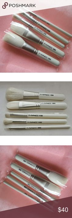 MAC HOLIDAY KEEPSAKES STUDIO BRUSH SET MAC HOLIDAY KEEPSAKES STUDIO BRUSH SET  Brand new and authentic From 2014 holiday collection left over stock original set White makeup bag not included. Comes in plastic brush sleeve. Beautiful white goat hair  Set includes the following Travel size brushes: 129 SE Powder Blush Brush 190 SE Foundation Brush 224 SE Tapered Blending Brush 213 SE Fluff Brush 209 SE Eyeliner Brush  Offers may be accepted. No low ballers please. LAST SET. MAC Cosmetics…