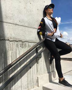 Pilar Rubio wearing Naughty Dog SS16 bomber jacket