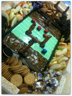 Snickers Snackadium - football party food. #snackadium
