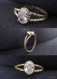 Diamond Twisted Rope Engagement ring Oval Diamond by Benati Engagement Ring Pictures, Modern Engagement Rings, Diamond Anniversary, Anniversary Rings, Bling Wedding, Wedding Rings, Marriage Jewellery, Oval Diamond, Or Rose