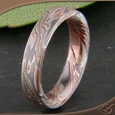 MOKUME-GANE 3-TONE WIDE BAND from Green Lake jewelers - fabulous!!!!!