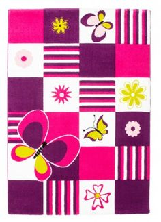PIECES PINK RUG Bring a cheerful meadow filled with butterflies and flowers straight to your child's room with this charm-packed hand-carved rug.  #love4home #love4rugs Read More: http://www.love4rugs.eu/kids-rugs/pieces-pink-rug_3?utm_source=Pinterest%20Post&utm_medium=Pinterest%20Post&utm_content=Pieces%20Pink%20Rug&utm_campaign=Pieces%20Pink%20Rug