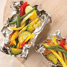 Sizzle up something healthy. Grilled Vegetables in Foil Packets | MyRecipes.com