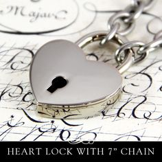 New to AnnieHowes on Etsy: Heart Lock with 304 Stainless Chain Bracelet or Key Holder. (8.50 USD)