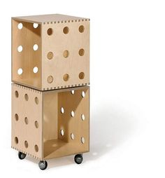 Plywood Chic - Birch Ply Wood Stackable Storage Boxes w/ Casters Stackable Storage Boxes, Modular Storage, Stackable Shelves, Modular Shelving, Charles Rennie Mackintosh Designs, Birch Ply, Ply Wood, Produce Storage, Wooden Shelves
