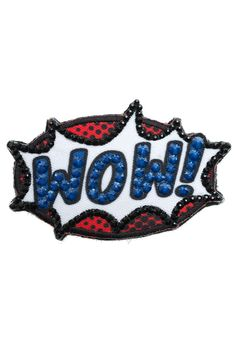 """Ekaterini Pop Art Collection """"WOW"""" badge with Swarovski crystals Women's Brooches, Jewelry Shop, Swarovski Crystals, Pop Art, Badge, Accessories, Shopping, Collection, Jewlery"""