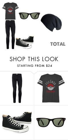 """Total"" by nerd-anonima on Polyvore featuring Topman, JEM, Converse, Ray-Ban, Black, men's fashion e menswear"