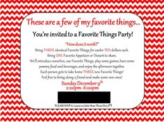Land of Collins- My Favorite Things Party invitation