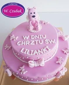 Torty z różowym misiem Birthday Cake, Desserts, Food, Tailgate Desserts, Deserts, Birthday Cakes, Essen, Postres, Meals
