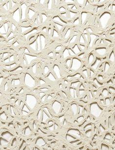 Handmade Decorative Paper, Open Circle, Bright White