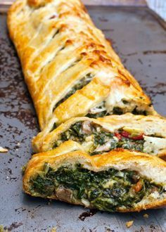 Tuscan Artichoke and Spinach Strudel. I love Spinach Artichoke dip, so this is…