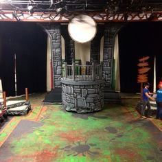 Shrek the Musical Fiona's tower set design by Cody Rutledge