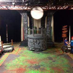 Shrek the Musical Fiona's tower set design by Cody Rutledge