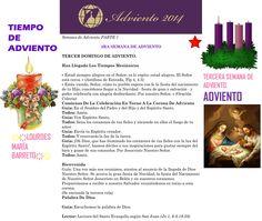ORACIÓN. Diciembre 14º, DOMINGO 2014. PARTE 1  3RA SEMANA DE ADVIENTO ҉҉LOURDES MARÍA BARRETO҉҉