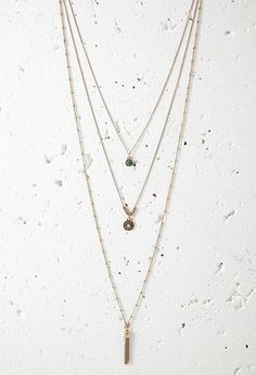 Tasseled Longline Necklace Set for Mom to wear. Nice thing about this set is it can be worn individually or layered as a set.