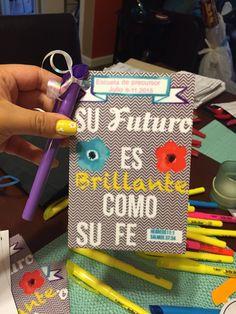 Pioneer school ideas  English: your faith is bright like your future Spanish: su futuro es brillante como su fe