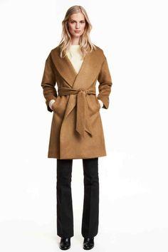 Casaco comprido mistura de lã | H&M